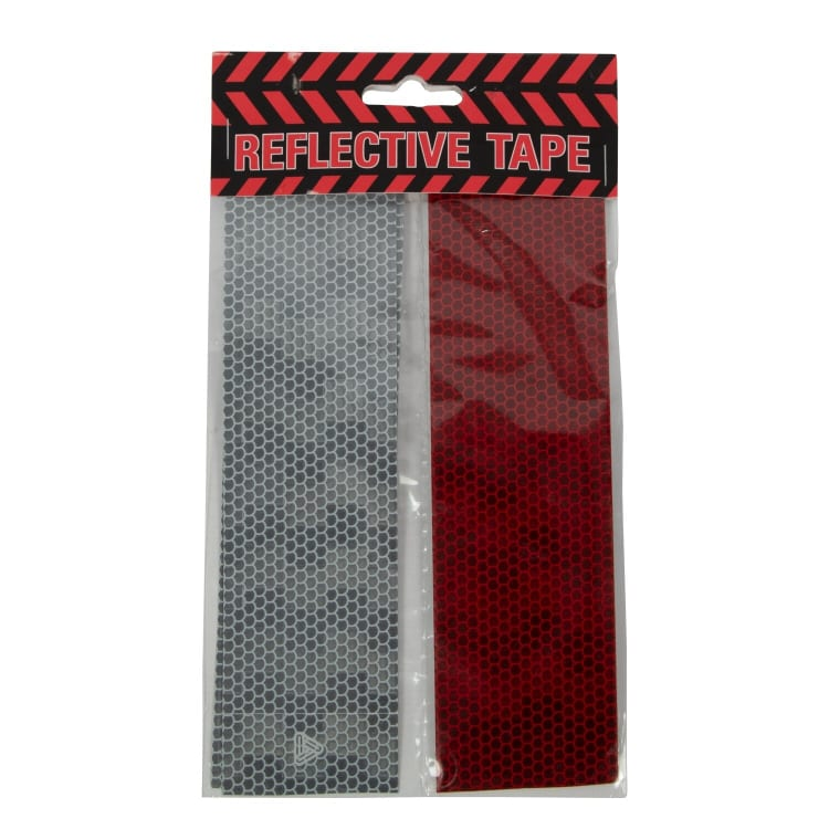 White/Red Reflective Tape - default