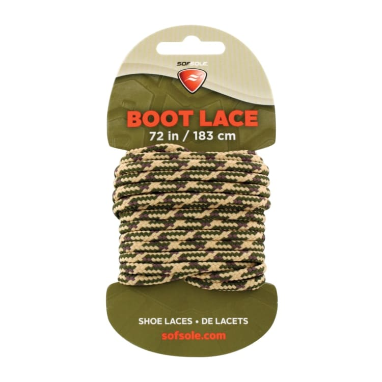 Sof-Sole Boot Lace Waxed Tan/Camo 183cm - default