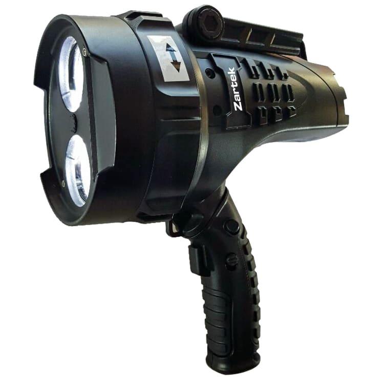Zartek LED Rechargeable Spotlight with Red Swivel Lens - default