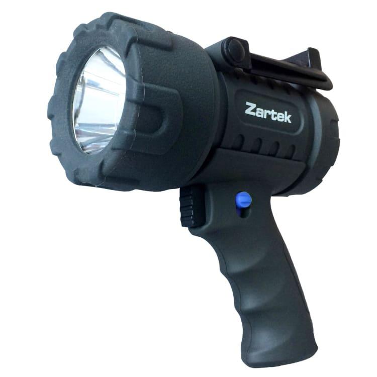 Zartek 1200 Lumen LED Rechargeable Spotlight with Red Lens - default