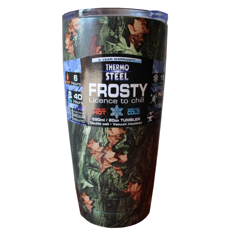 Litheoptec Thermosteel Camo Frosty Vacuum Tumbler - default
