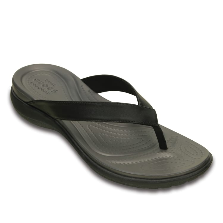 Crocs Capri V flip Women's Black/Graphite - default