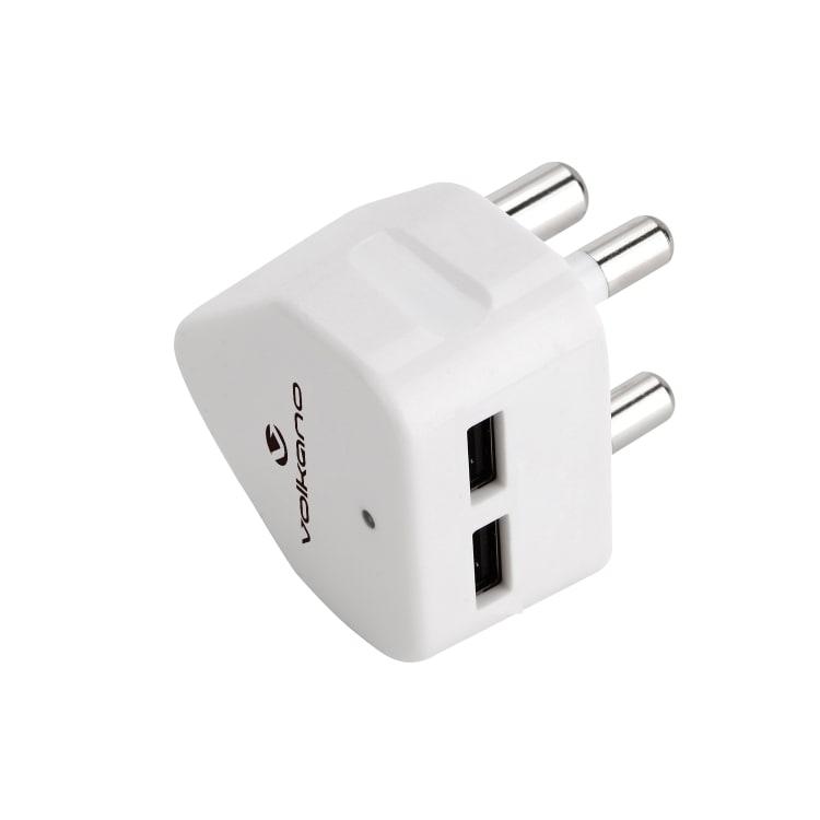 Volkano Current Dual USB AC Adaptor Plug - default