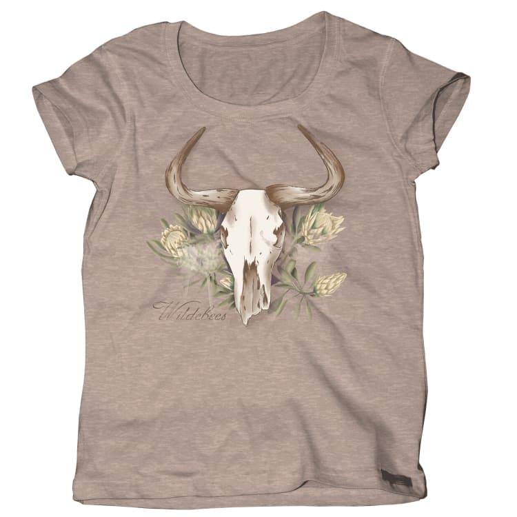 Wildebees Women's Protea Skull Tee - default