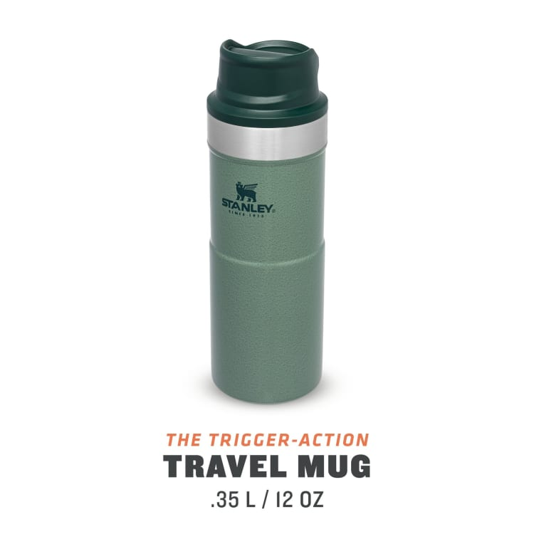 Stanley Classic Trigger Action Mug 355ml Hammertone Green - default