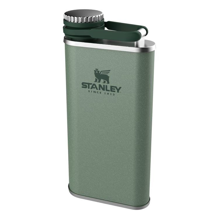 Stanley Classic Pocket Flask 8oz Easy Pour Wide Mouth Hammertone Green - default