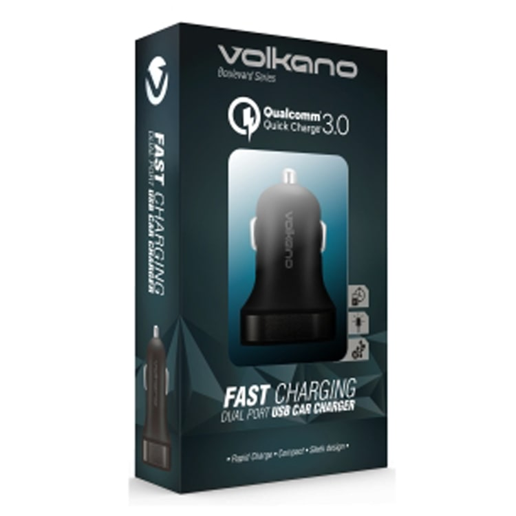 Volkano Boulevard Series Dual USB Car Charger 5A - default
