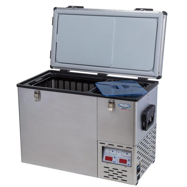 National Luna Legacy NL50 Stainless Steel Twin Fridge/Freezer - default