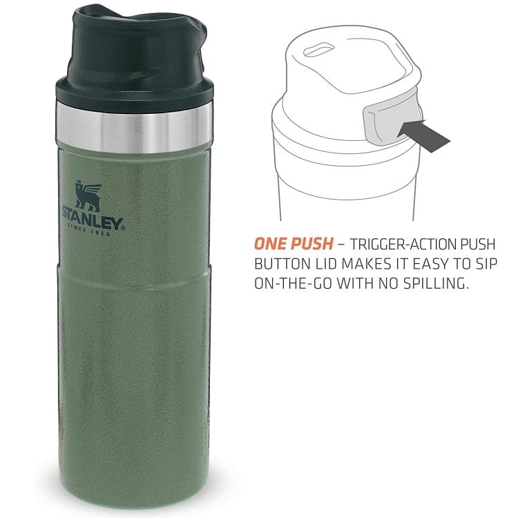 Stanley Classic Trigger Action Mug 470ml Hammertone Green - default