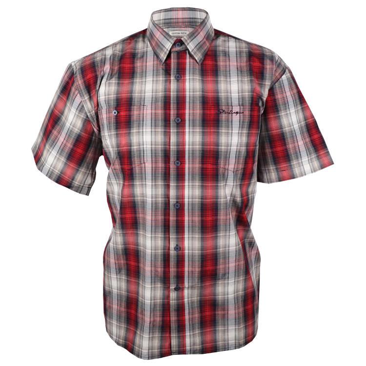 Sterling Men's Check Short Sleeve Shirt - default
