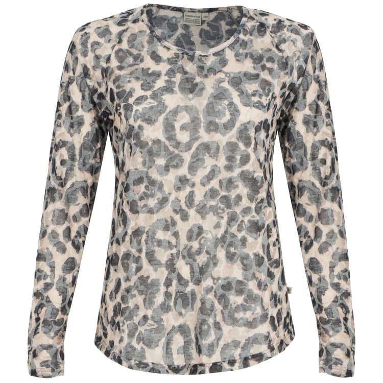Africa Nature Women's Leopard Burnout Long sleeve Top - default