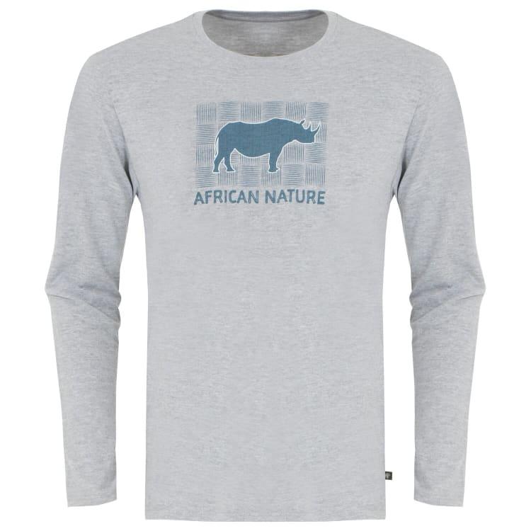 African Nature Men's Rhino Long sleeve Tee - default