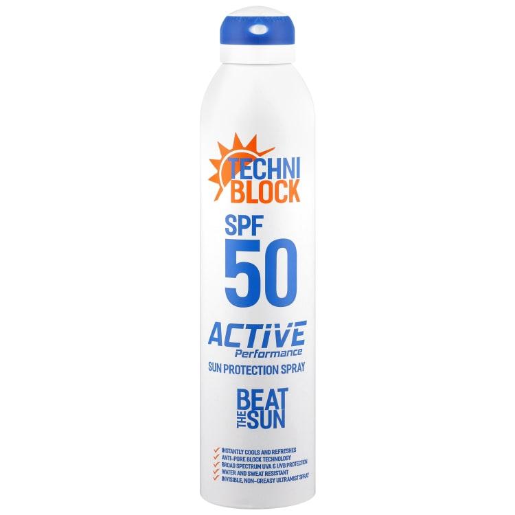 Techniblock 300ml SPF50 Sun Protection Spray Aerosol - default