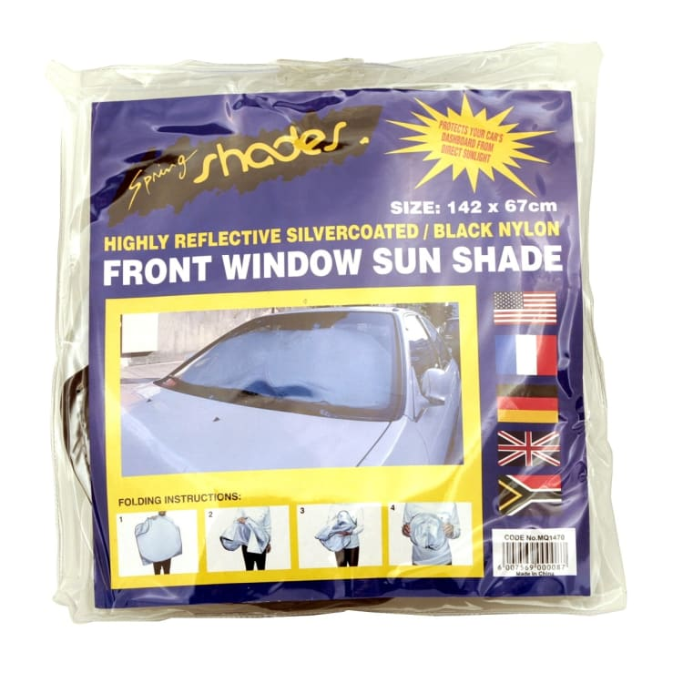Nylon Springshade Silver Coated Front Window - default