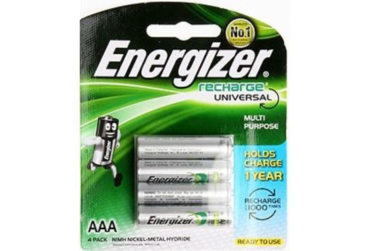 Energizer 4AAA Rechargeable Batteries - default