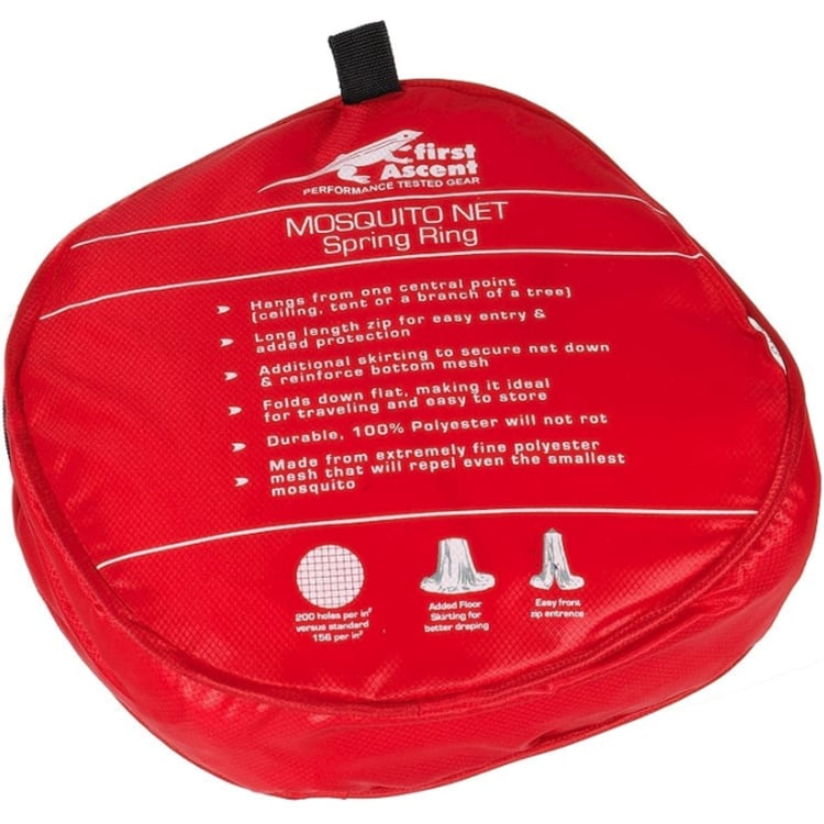 First Ascent Mosquito Net Single - Spring Ring - default