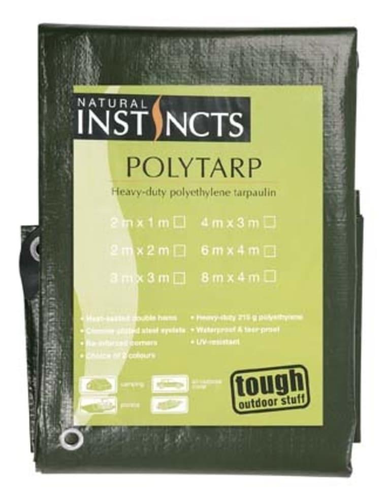 Natural Instincts Polyethylene Tarpaulin - 1 x 2 m - default