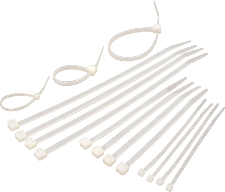 Moto-Quip 75pc Cable Ties - White - default