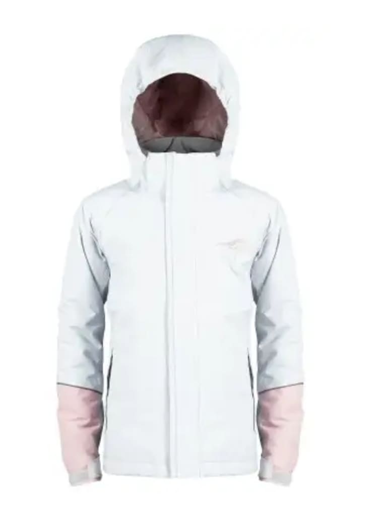 First Ascent Junior Girls Snowball Ski Jacket - Cool Grey/dusk Rose