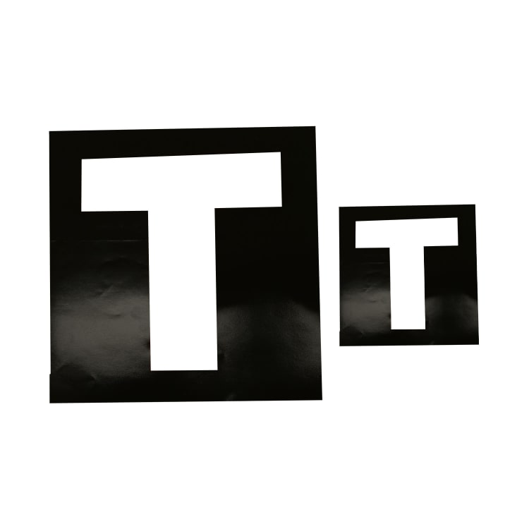 White T Sticker Non Reflective - default