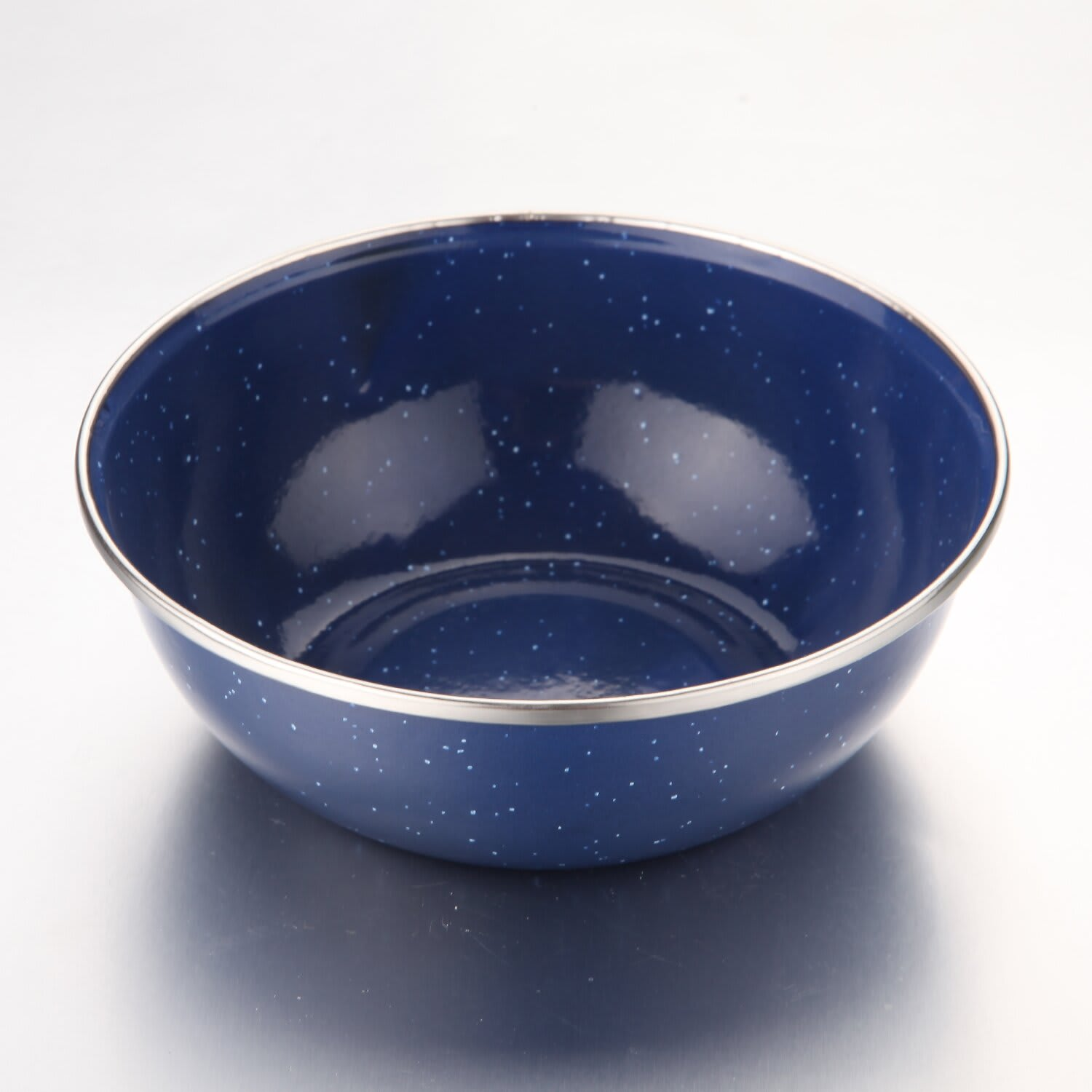 NATURAL INSTINCTS ENAMEL BOWL BLUE