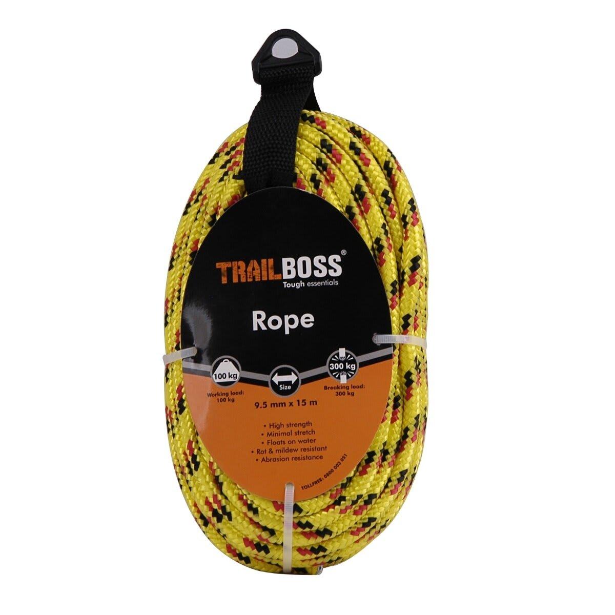 TrailBoss 9.5mm x 15m Rope