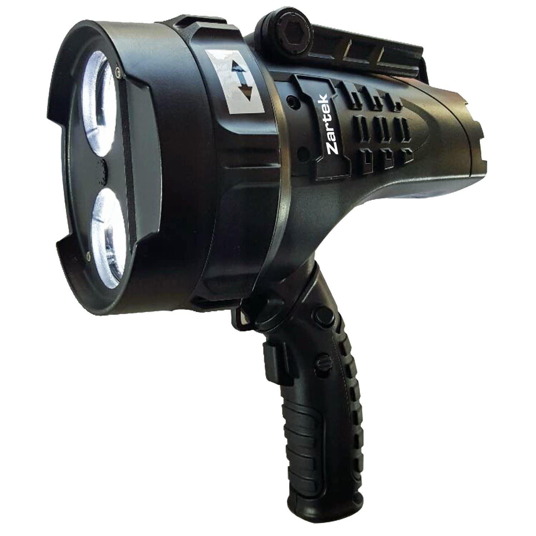 Zartek LED Rechargeable Spotlight with Red Swivel Lens