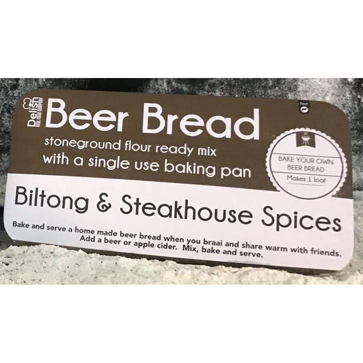 Delish Beer bread biltong and single use pan