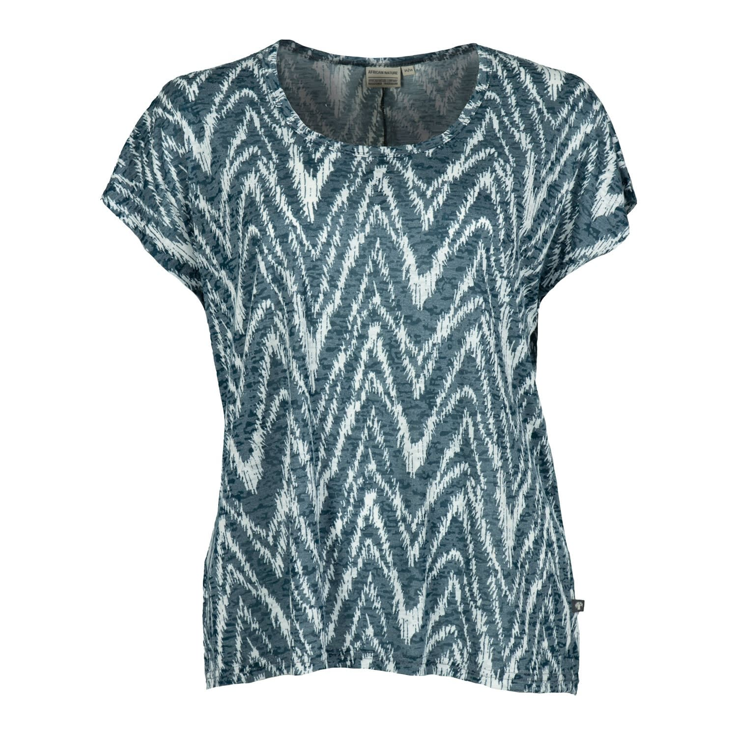 African Nature Women's Zig Zag Burnout Tee