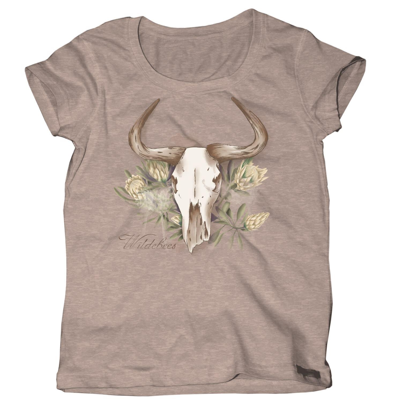 Wildebees Women's Protea Skull Tee