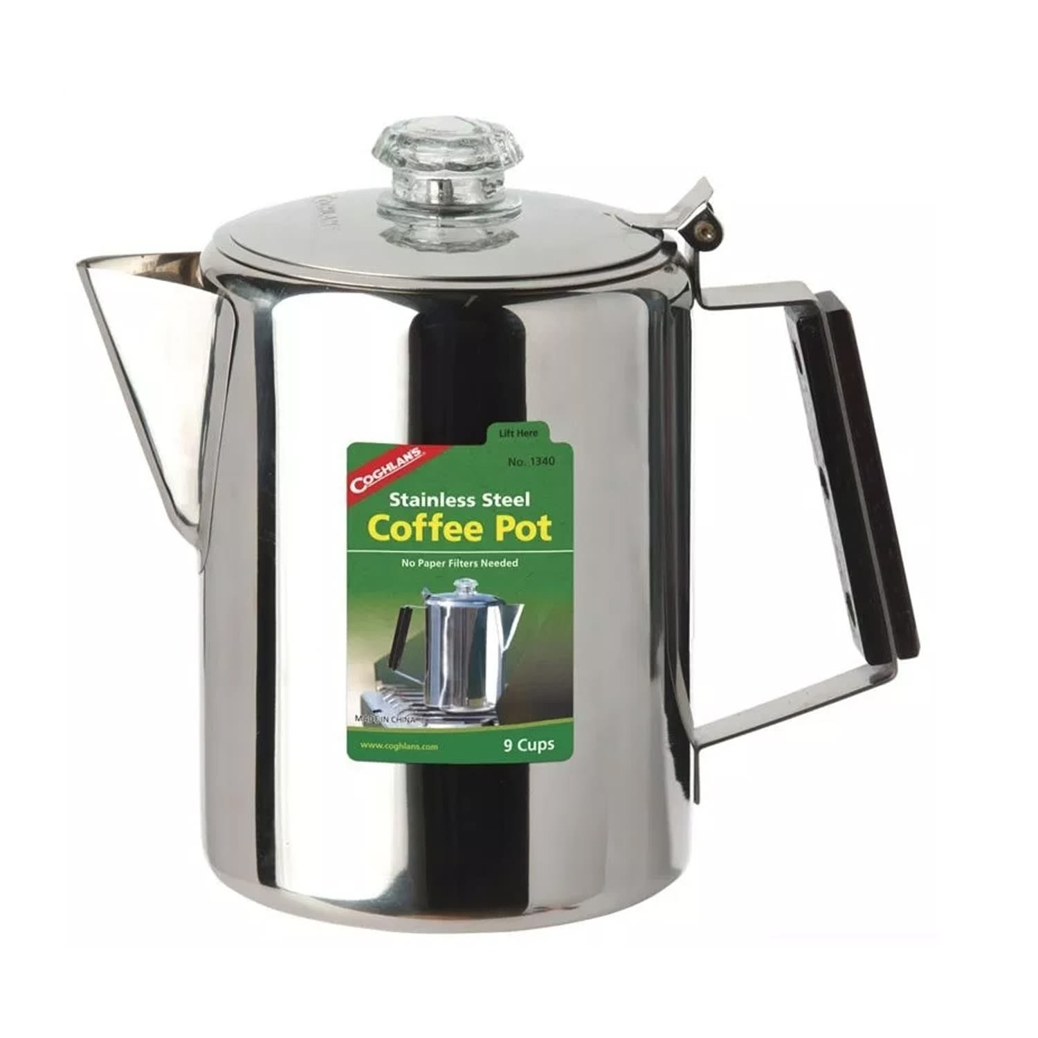 Coghlan's Stainless Stell 9 Cup Coffee Percolator