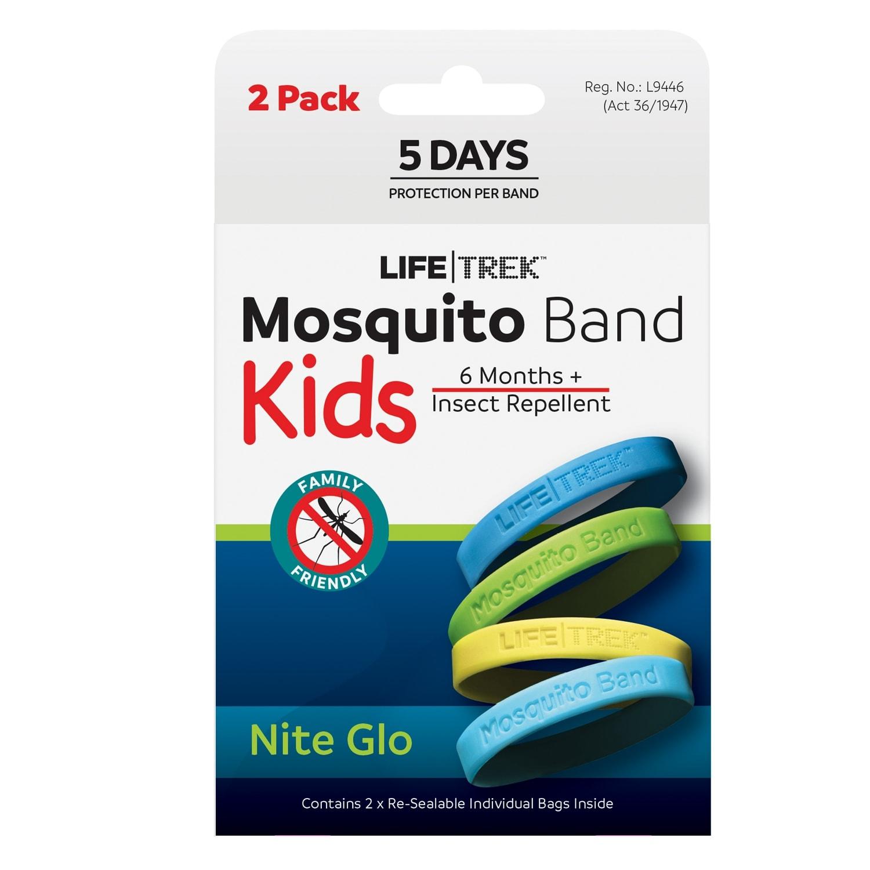 Lifetrek Mosquito Band Kids Nite Glow 2PK