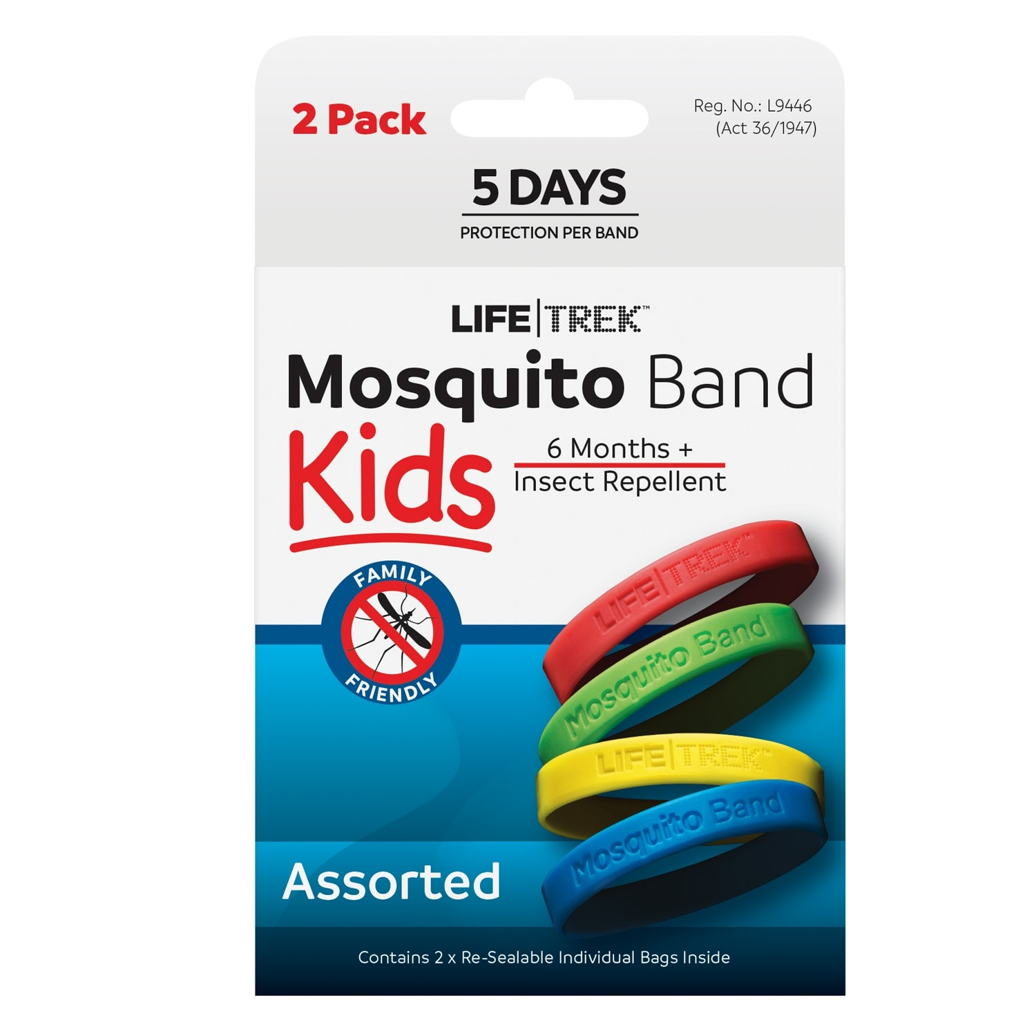 Lifetrek Mosquito Band Kids 2 Pk