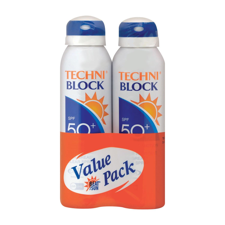 Techniblock 2x SPF50 150ml Sprays