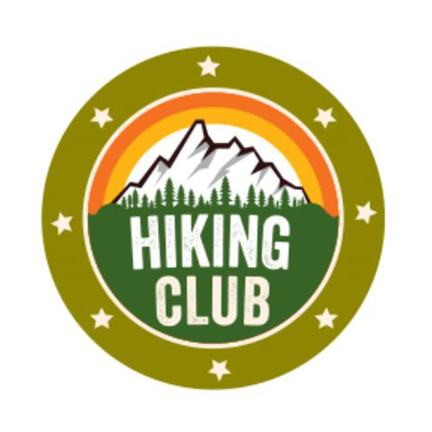 Hiking Club Tag Small