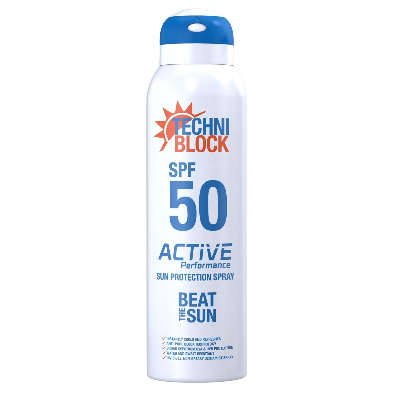 Techniblock SPF50+ Sun Protection Spray 150ml