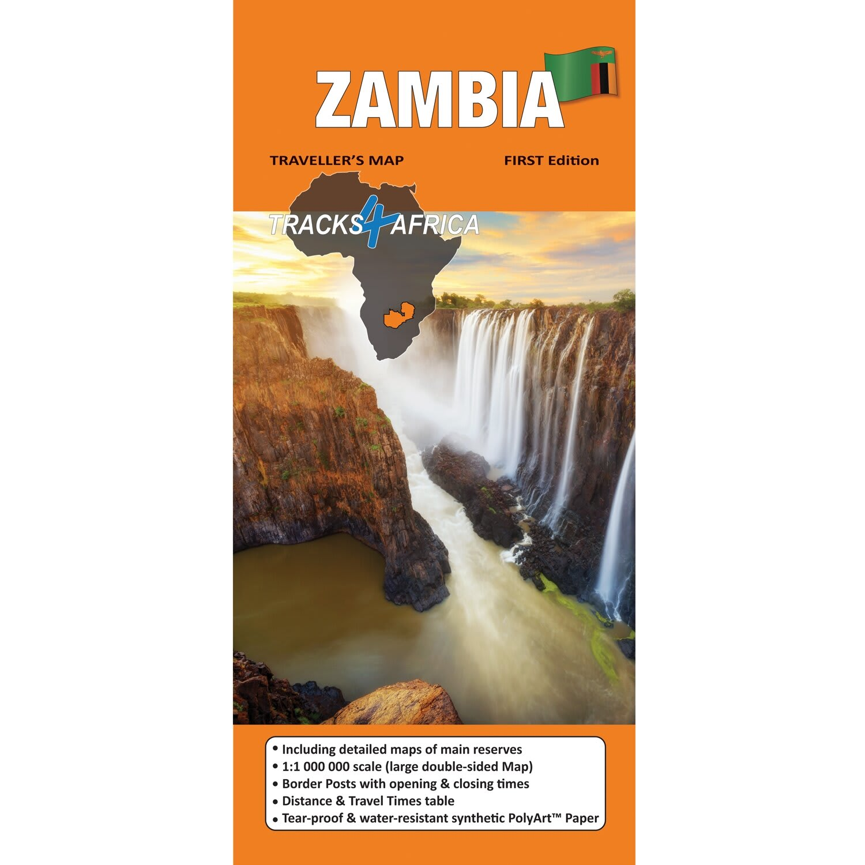 Tracks4Africa Zambia 1st Edition