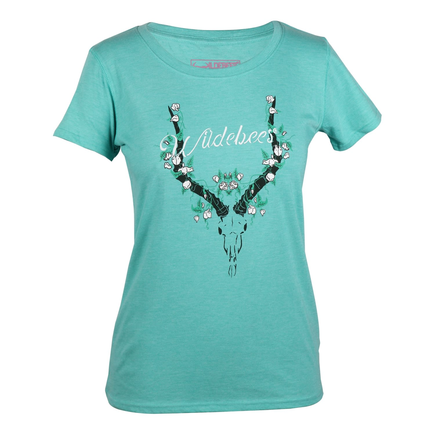 Wildebees Women's Flower Skull Tee