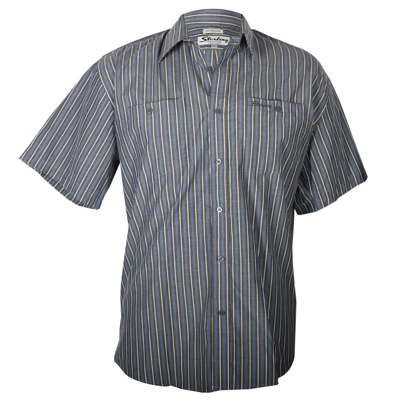 Sterling Mns Short Sleeve Striped Shirt