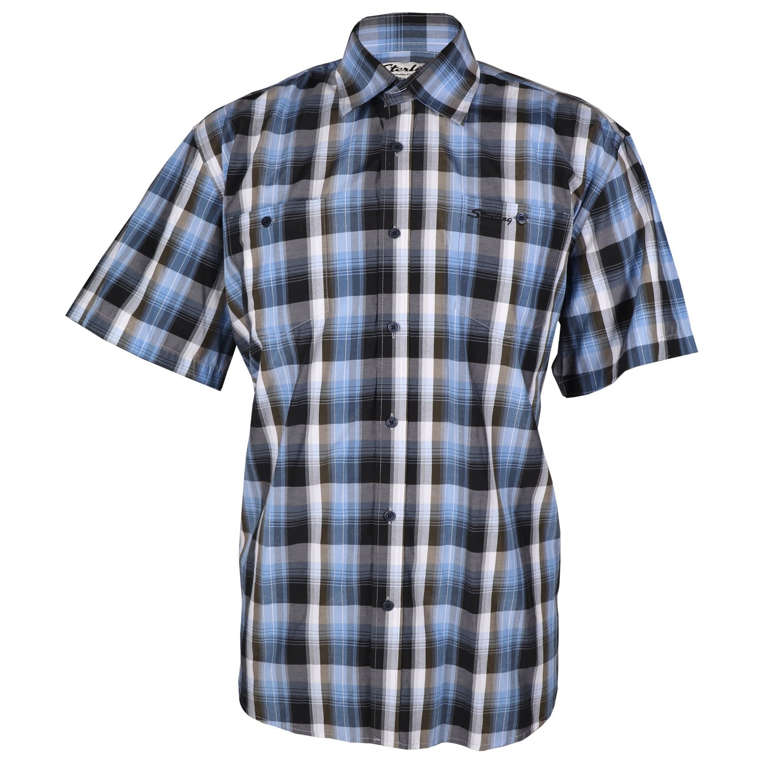 Sterling Men's Short Sleeve Check Shirt