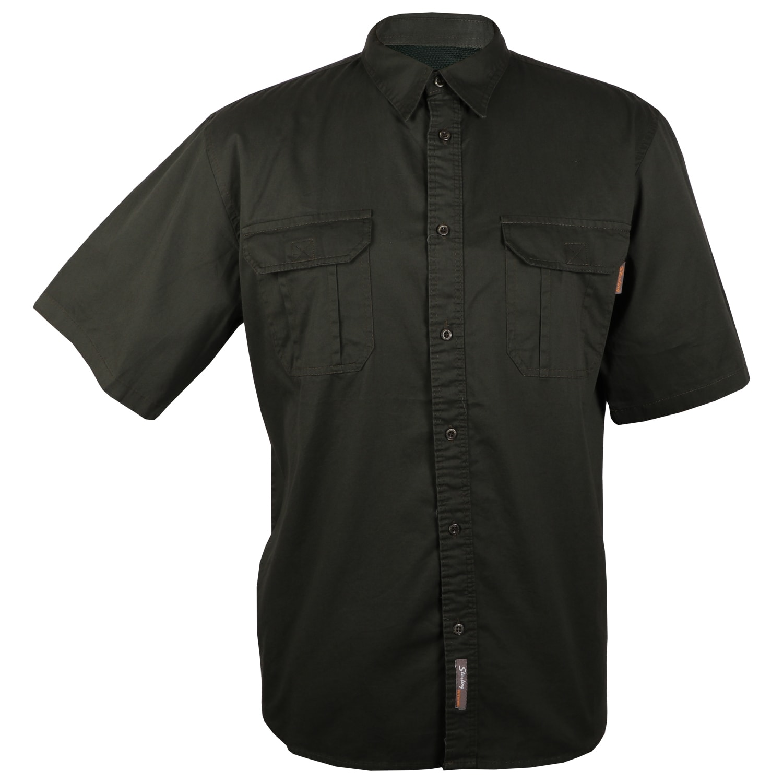 Sterling Men's Mesh Back Twill Short Sleeve Shirt