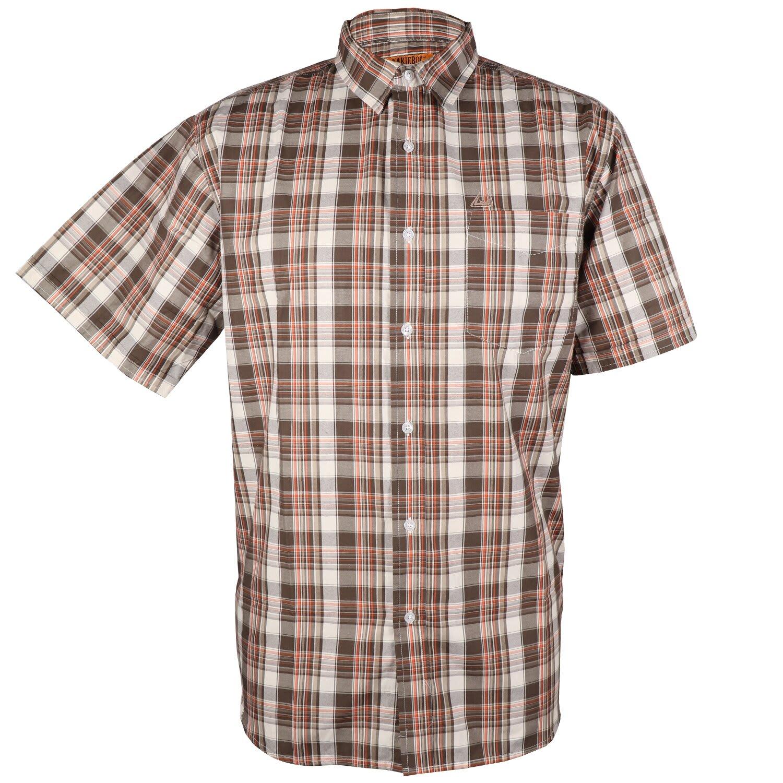 Kakiebos Men's Check Short Sleeve Shirt (3XL-5XL)