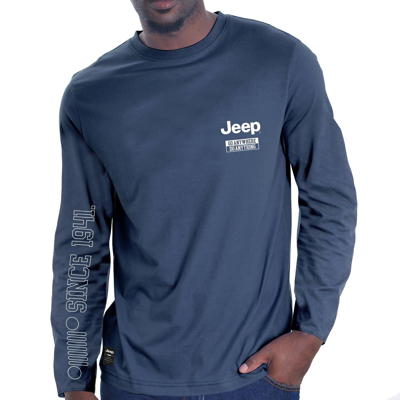 Jeep Mens Logo Print Longsleeve Tee