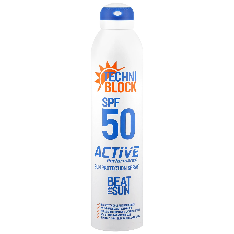 Techniblock 300ml SPF50 Sun Protection Spray Aerosol