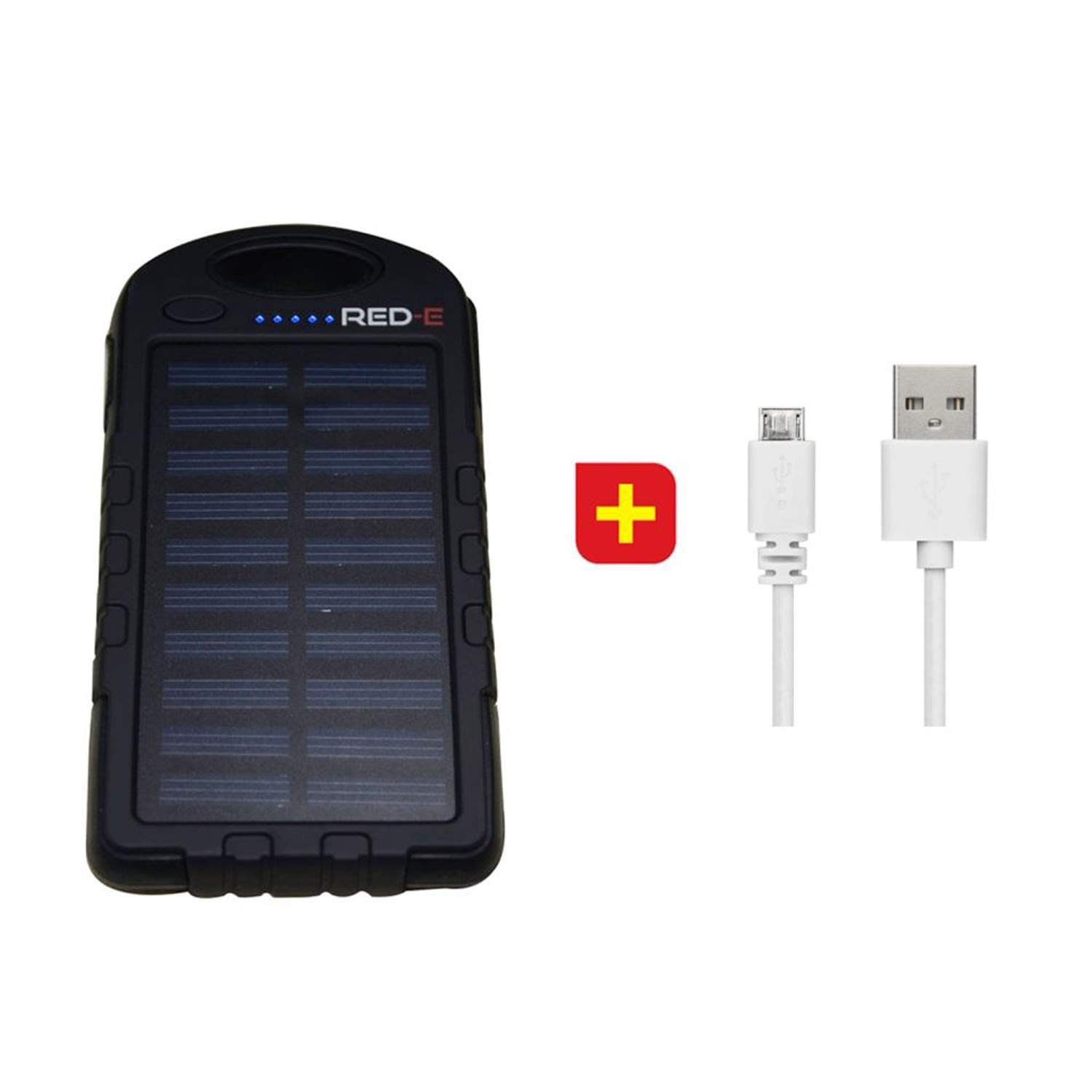 Red-E RS40 4 000mAh PowerBank With Solar Panel + 1m Micro USB Cable