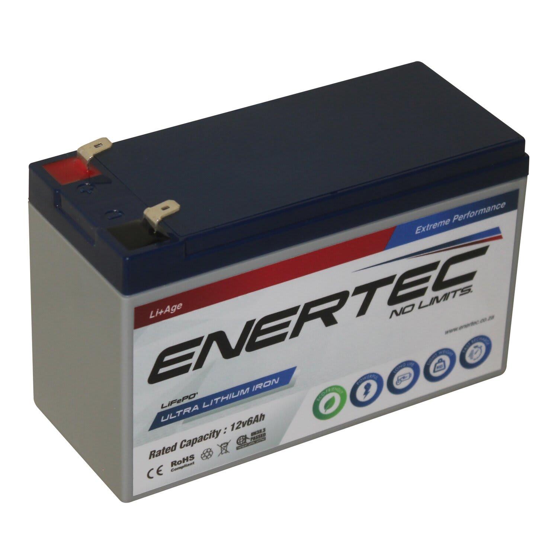 Enertec 12v6ah Lithium Iron Phosphate Battery