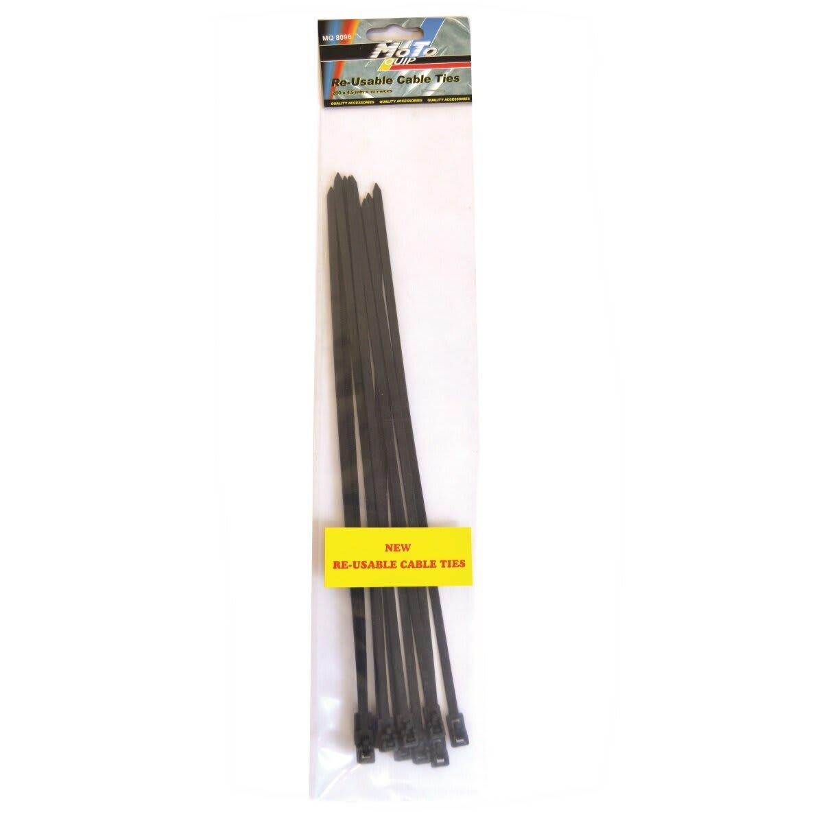 Moto-Quip Reuseable Cable Tie 4.5mm x 280mm 10pc