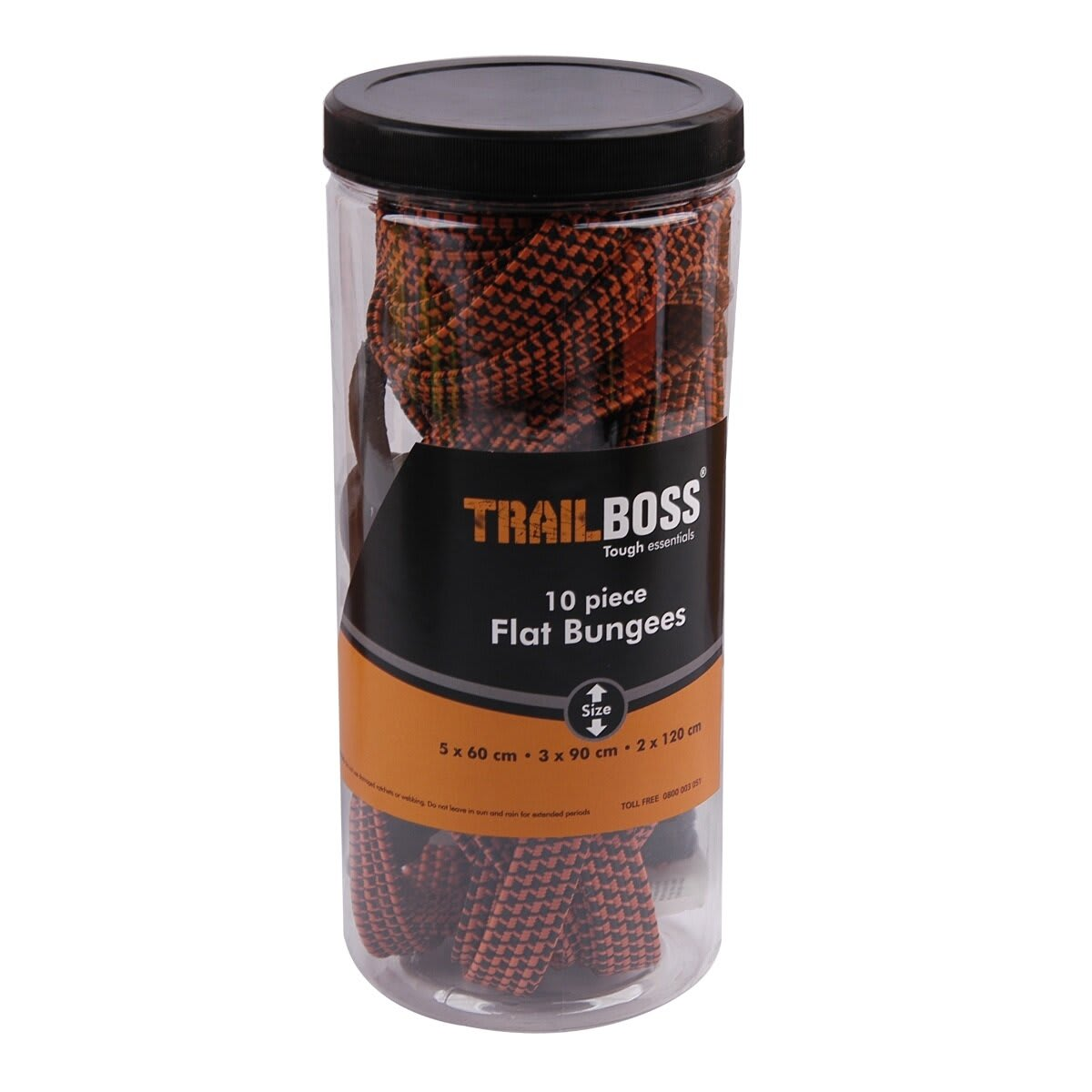 TrailBoss 10PC Flat Bungees