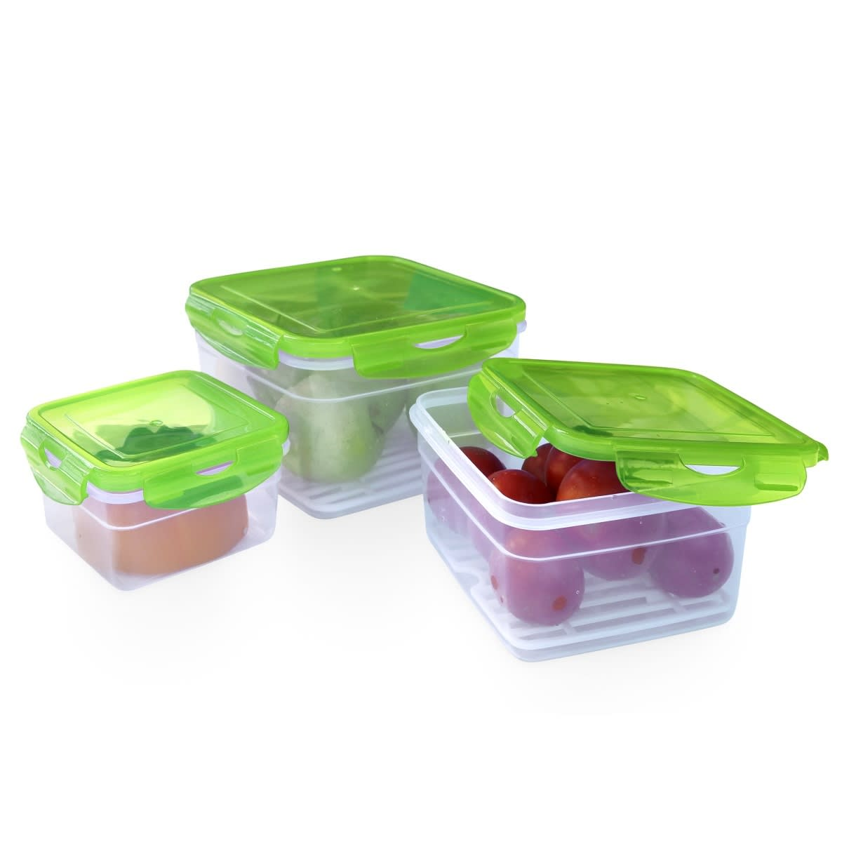 STO-KIT 3pcs food container with 4-sided lock