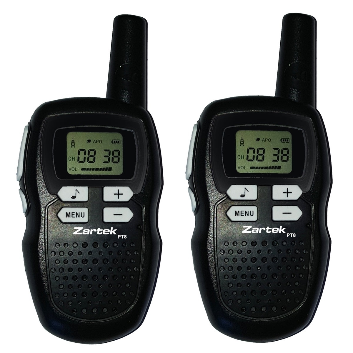 Zartek PT8 Two-Way Radio's Twin Pack